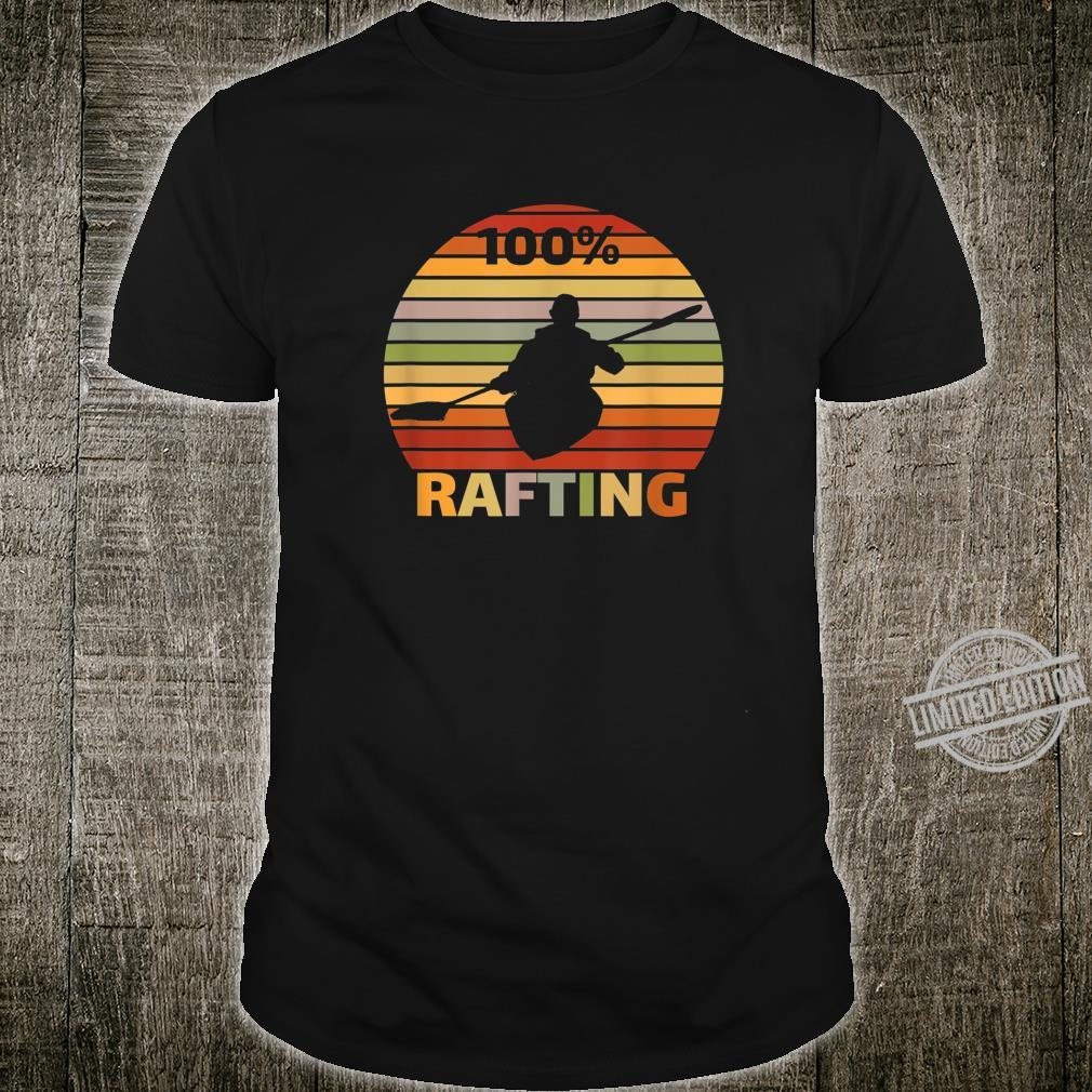 100% Rafting Sport in Kanu und Kajak Shirt