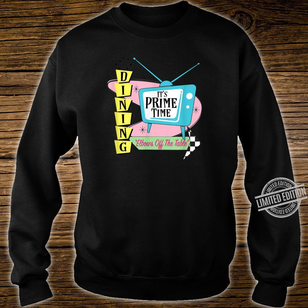 50's Retro TV Prime Time Dining Elbows Off the Table Shirt sweater