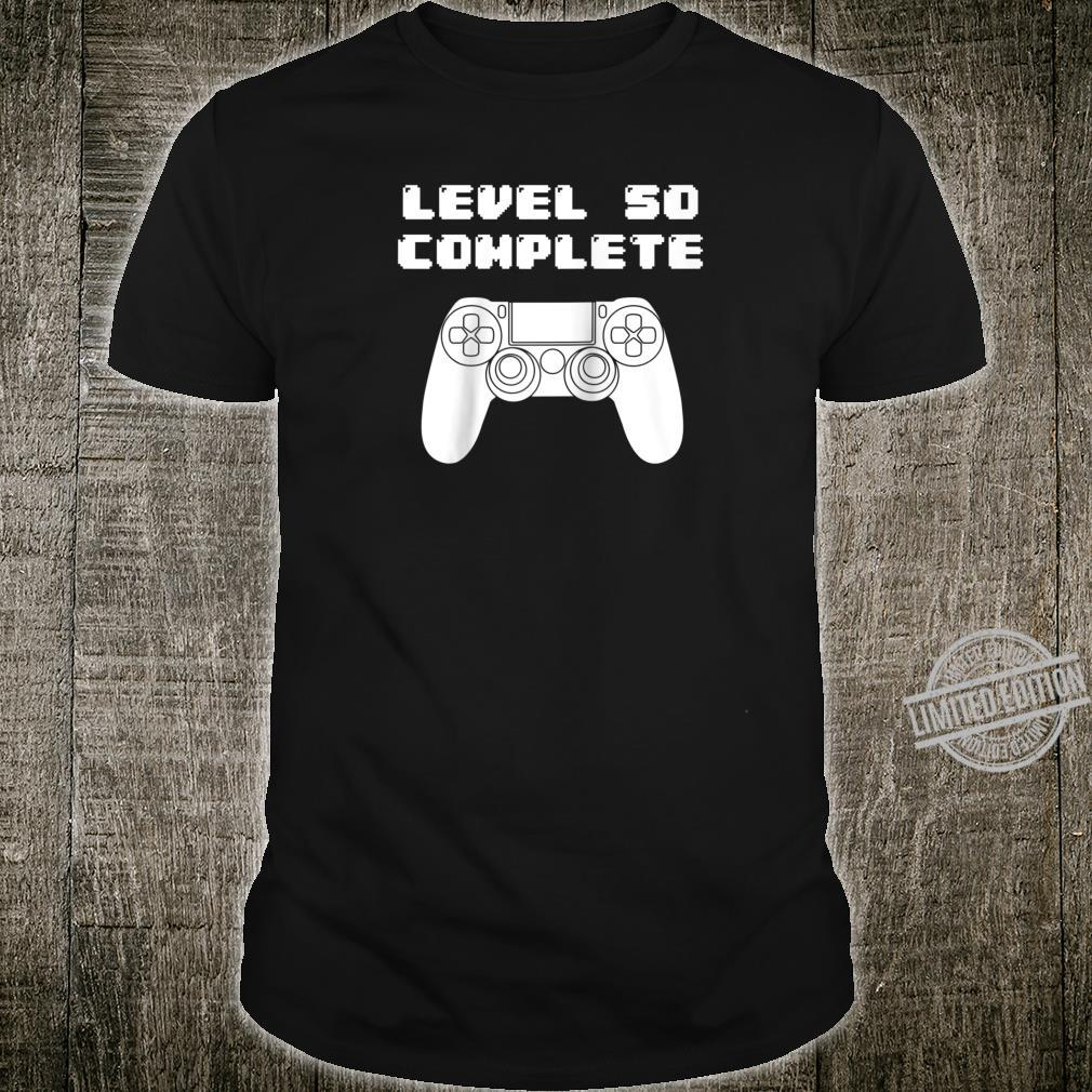 50th Birthday Shirt 50 Years Old Video Gaming Shirt, Bday Shirt