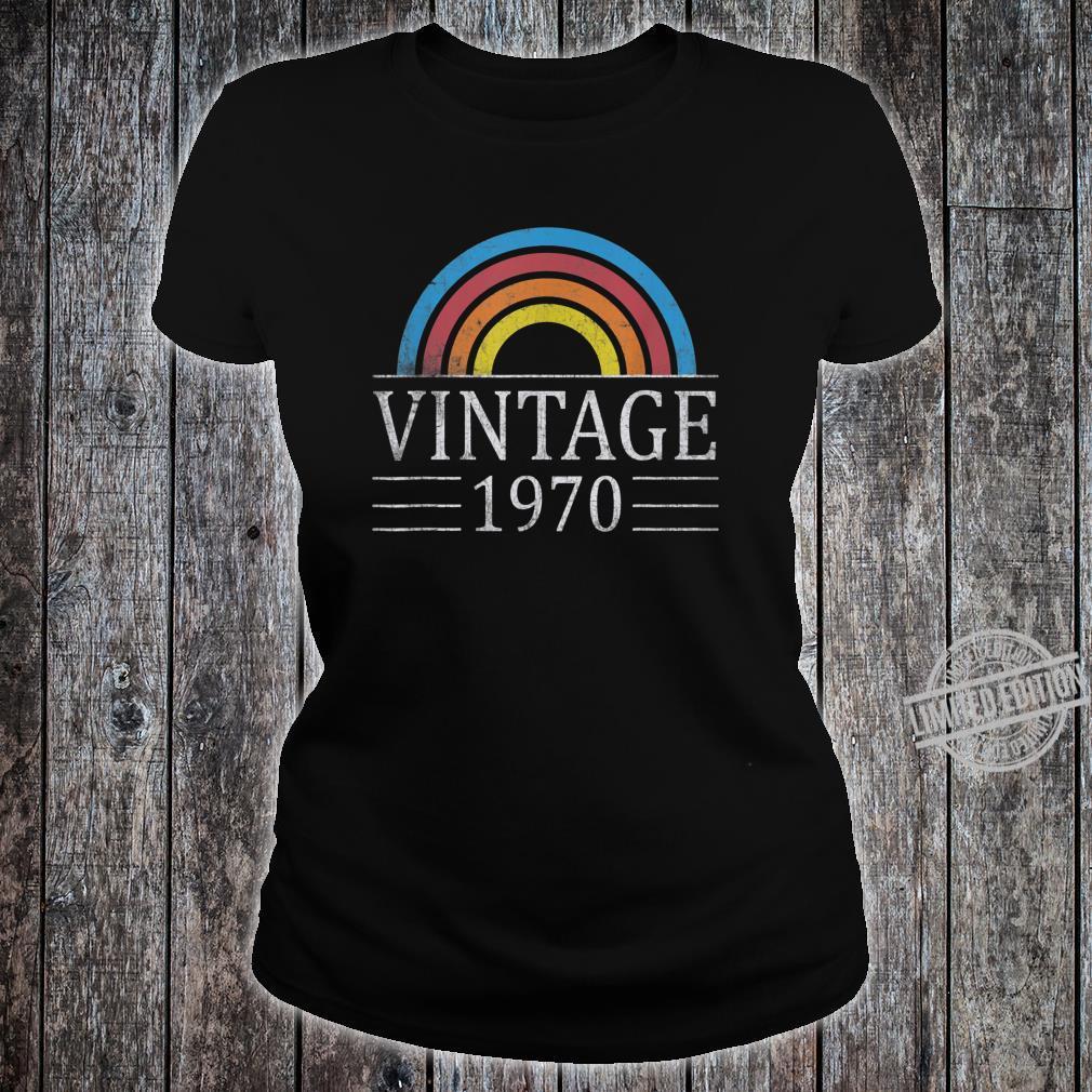 50th Vintage Classic 1970 Birthday 50 Years Old Shirt ladies tee