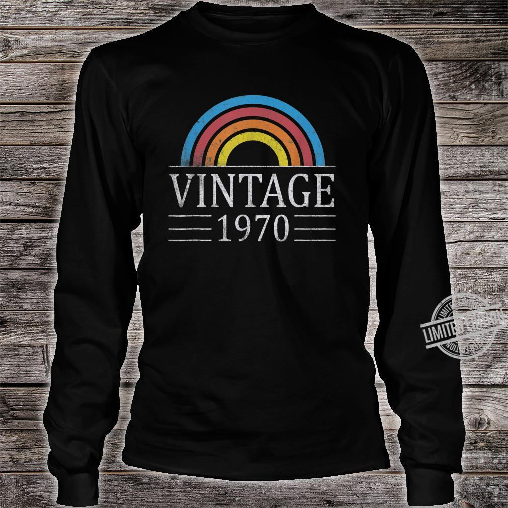 50th Vintage Classic 1970 Birthday 50 Years Old Shirt long sleeved