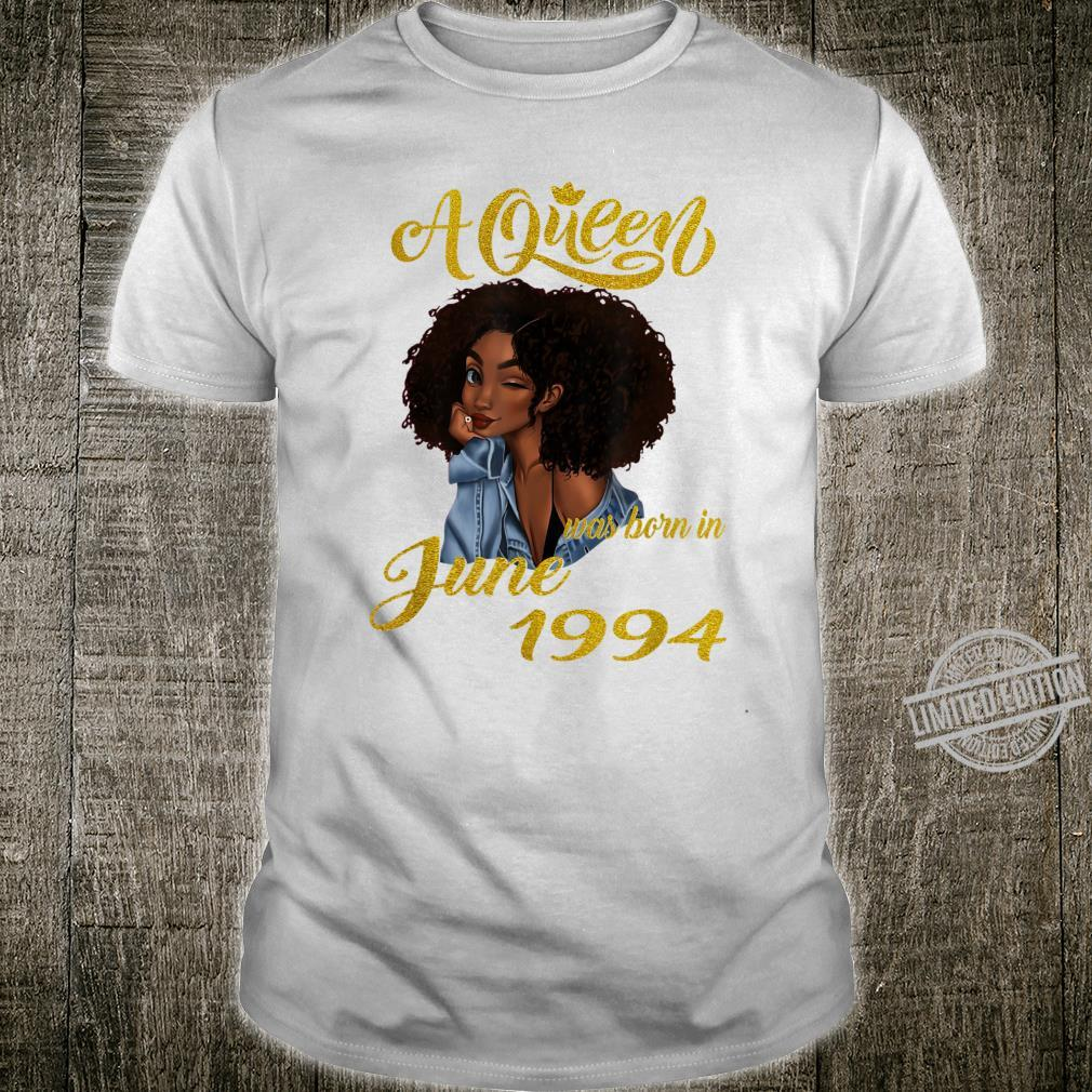 A Queen Was Born in June 1994 26th Birthday Shirt