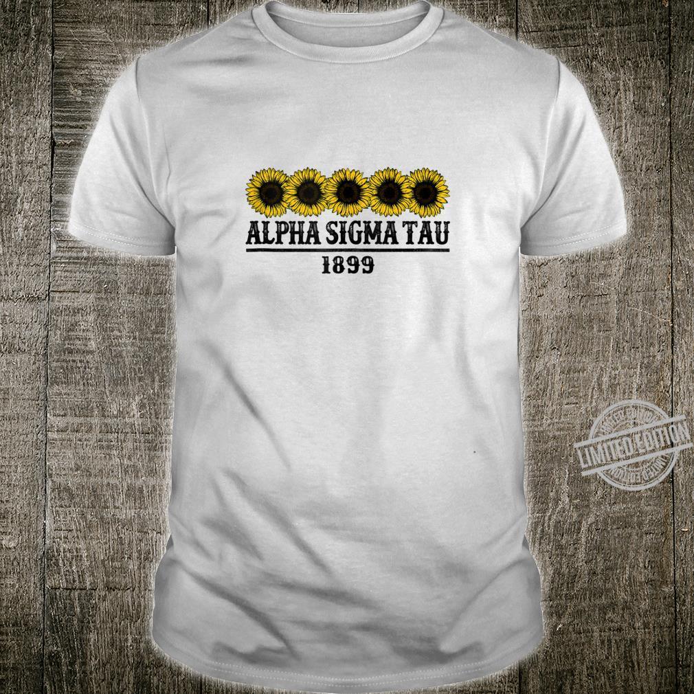 AlphaSigmaTau Sorority Sunflowers Sisterhood Greek Shirt