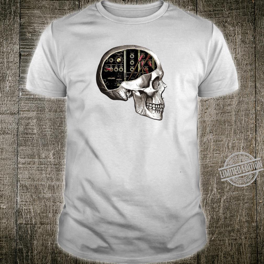 Analog Modular Synthesizer Skull für Synth Nerd Shirt