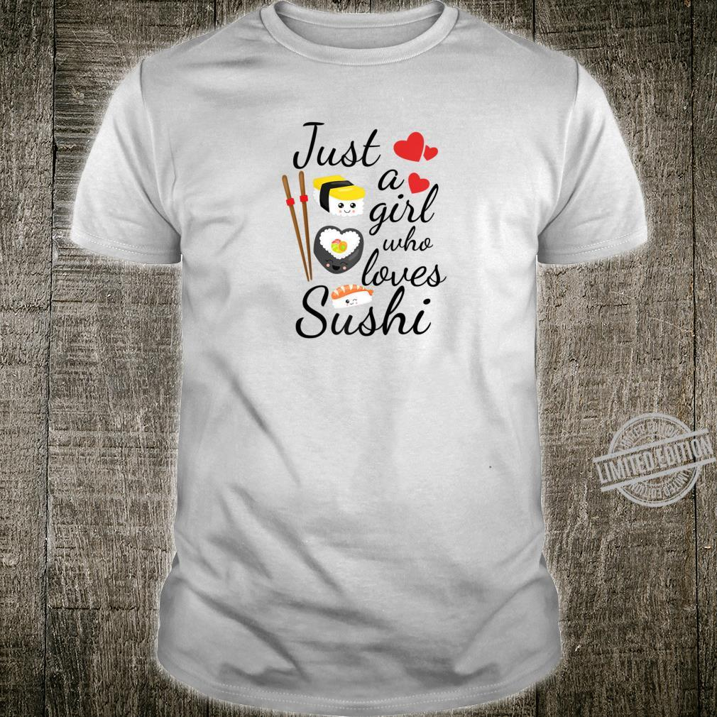 Anime Just A Girl Who Loves Sushi Cute Anime Style Shirt