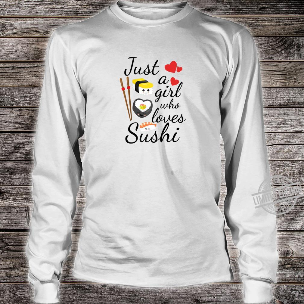 Anime Just A Girl Who Loves Sushi Cute Anime Style Shirt long sleeved