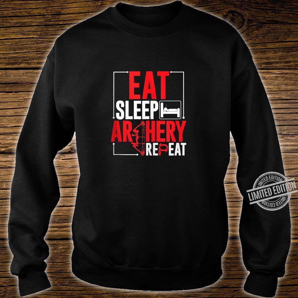 Eat Sleep Bow Hunt hoodie hunting sweatshirt bow and arrow