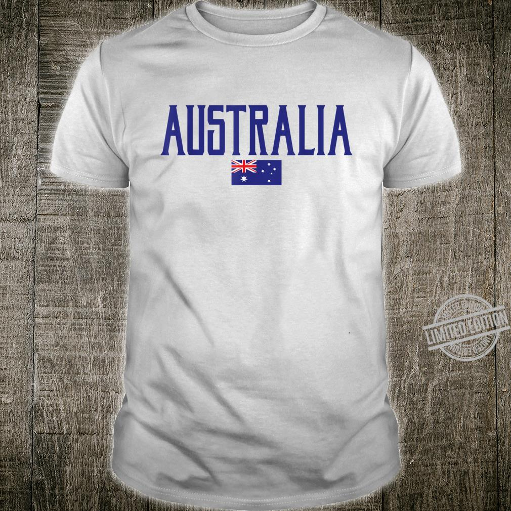 Australia Flag Vintage Blue Text Shirt