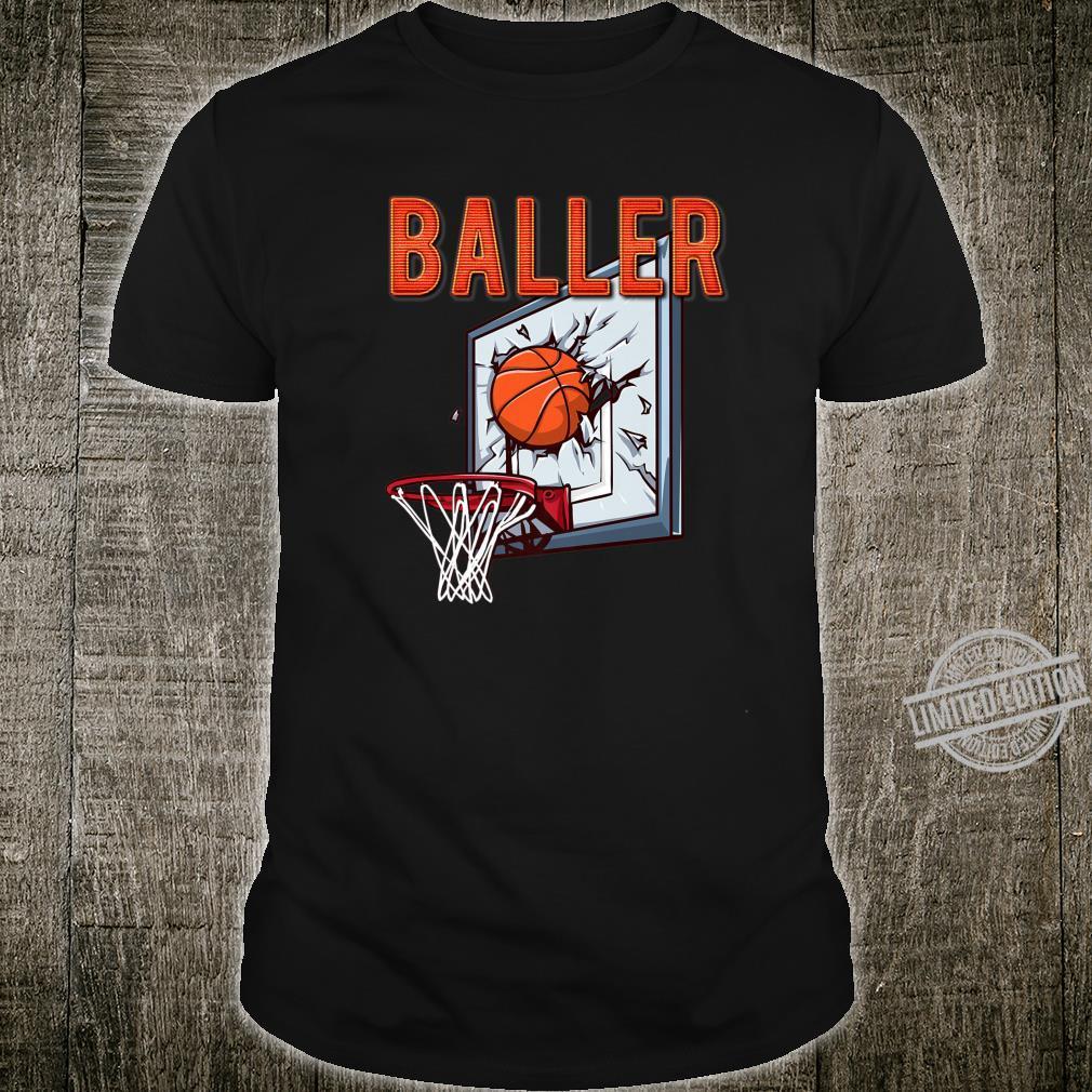 BALLER Basketball Shattered Backboard Shirt