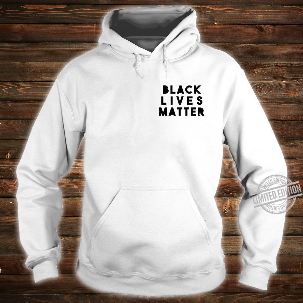 BLM Einfache Distressed Black Lives Matter Power Fist Pocket Shirt hoodie