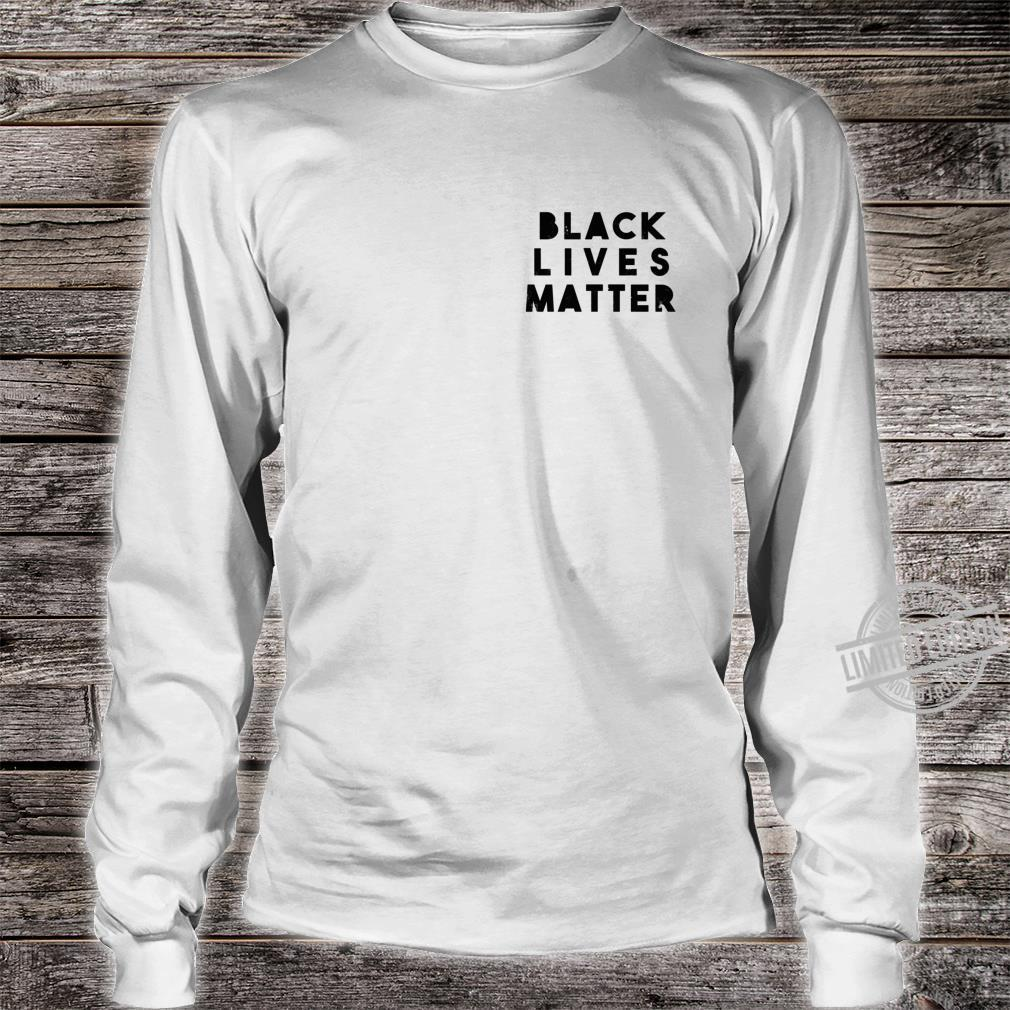 BLM Einfache Distressed Black Lives Matter Power Fist Pocket Shirt long sleeved