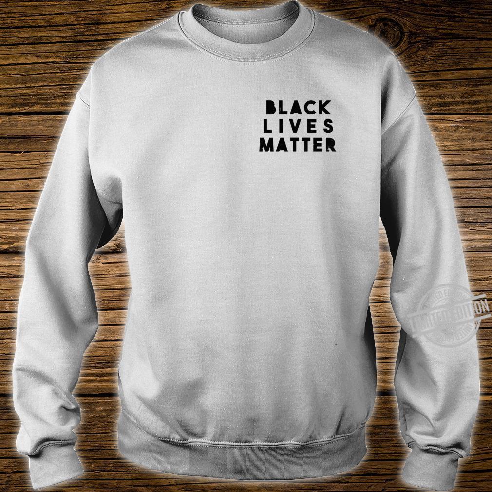 BLM Einfache Distressed Black Lives Matter Power Fist Pocket Shirt sweater