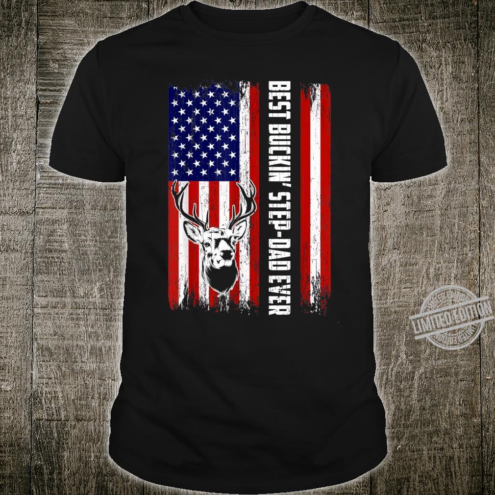 Best Buckin' StepDad Ever Shirt Deer Hunting Bucking Father Shirt