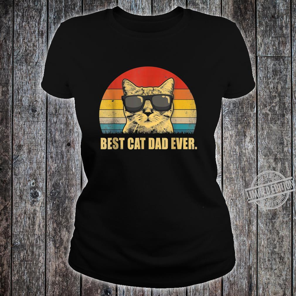 Best Cat Dad Ever Cat Dad Father day Vintage Shirt ladies tee
