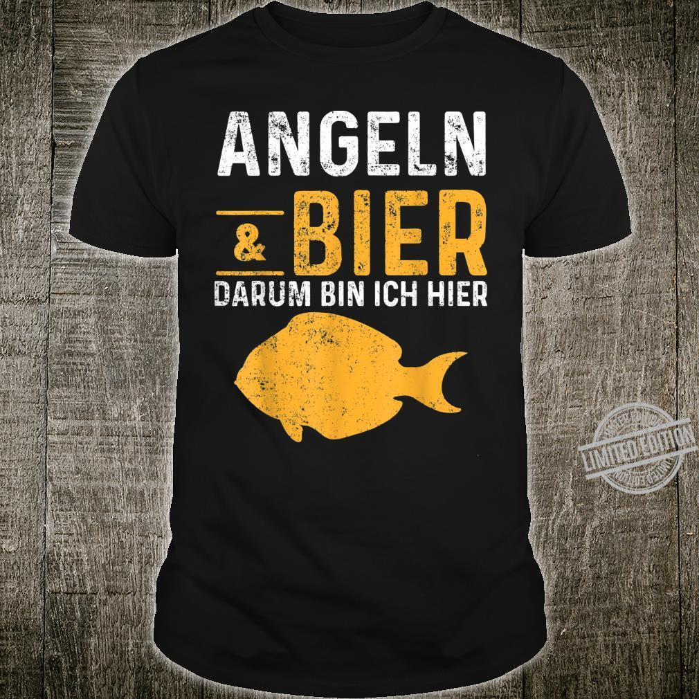Bier Angler Fisch Angeln Angelrute Köder Shirt