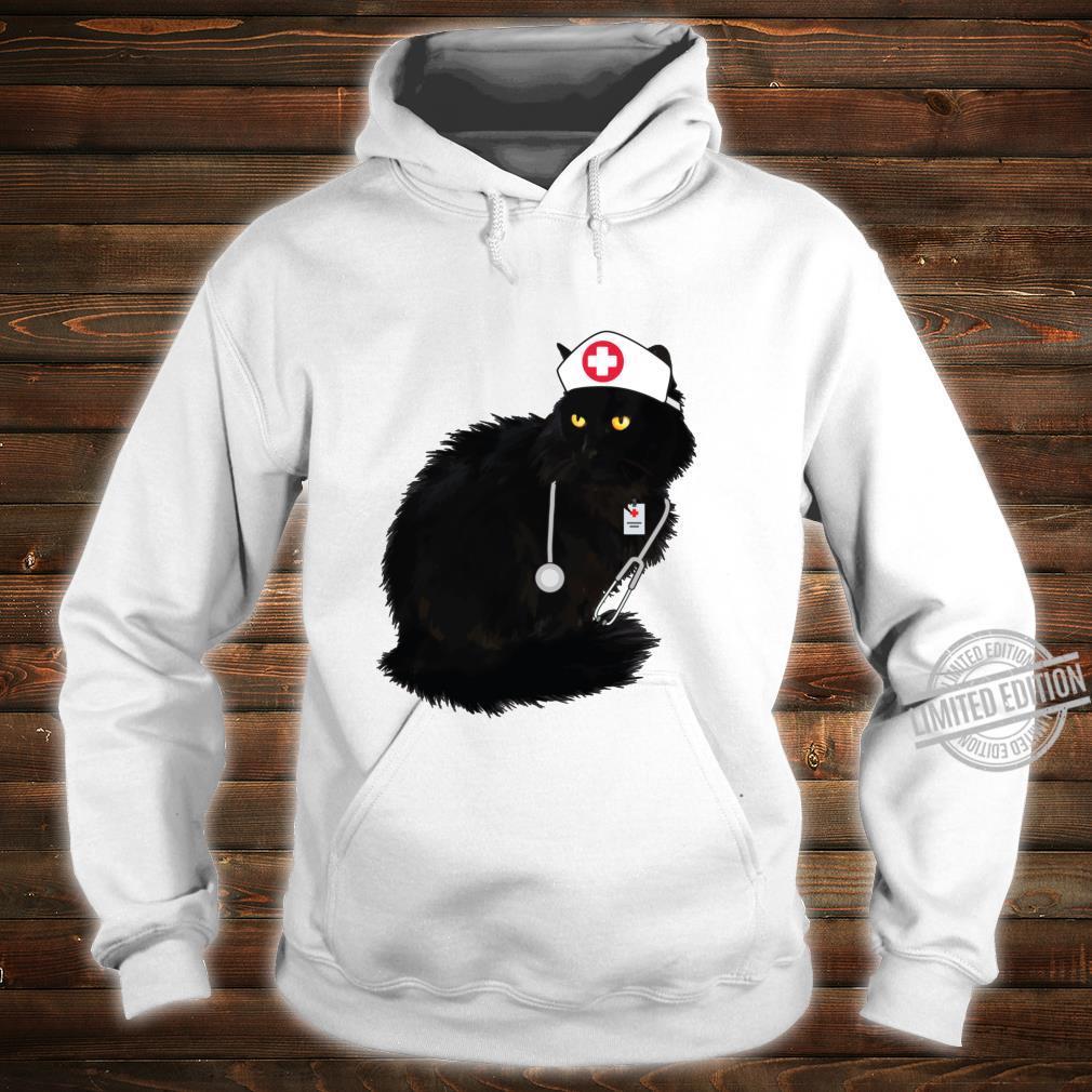 Black Cat Shirt For Nurses Doctor Cat Mom Nurse Langarmshirt Shirt hoodie