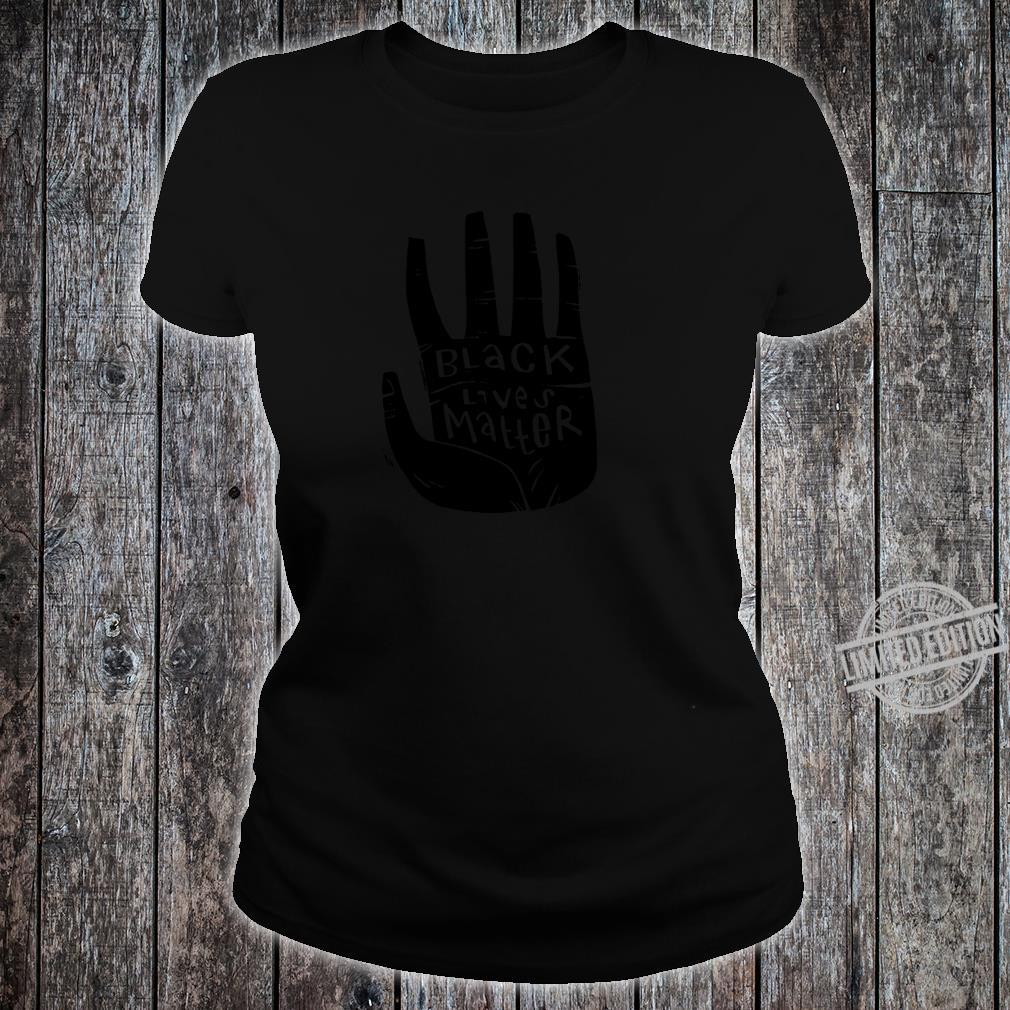 Black Lives Matter Schwarze Power Palm Shirt ladies tee