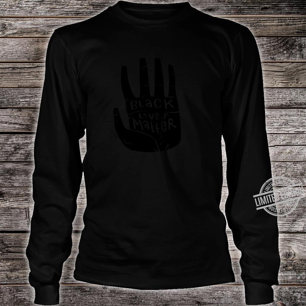 Black Lives Matter Schwarze Power Palm Shirt long sleeved