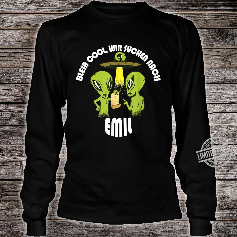 Bleib Cool Emil Alien UFO Geburtstagskind Geschenk Shirt long sleeved
