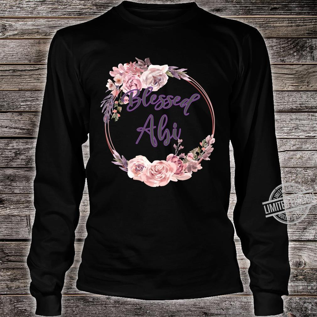 Blessed Abi Thanksgiving Mother and Wife Shirt long sleeved