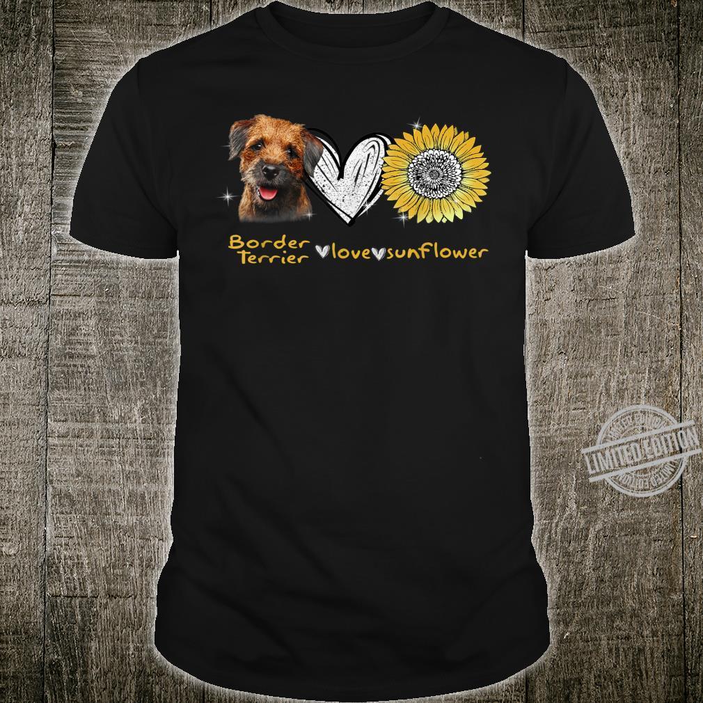 Border Terrier Love Sunflower Hippie Border Terrier Peace Shirt