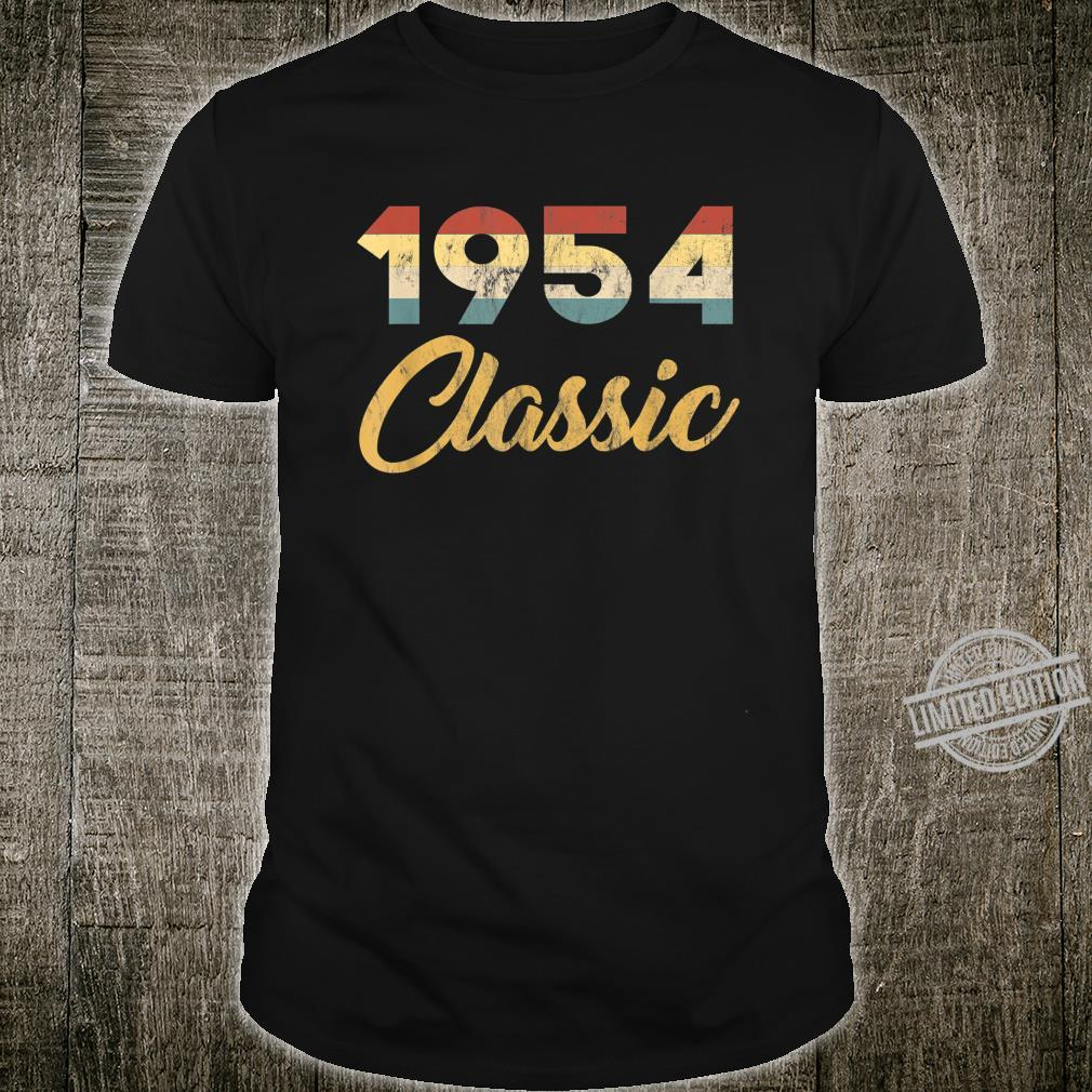Born In 1954 Classic 50s Celebration Retro 66th Birthday Shirt