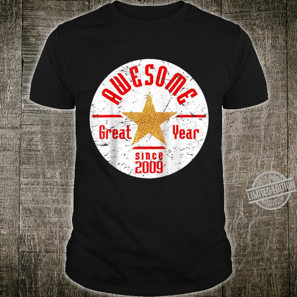 Born In 2009 11th Birthday Awesome Since 2009 Baseball Shirt