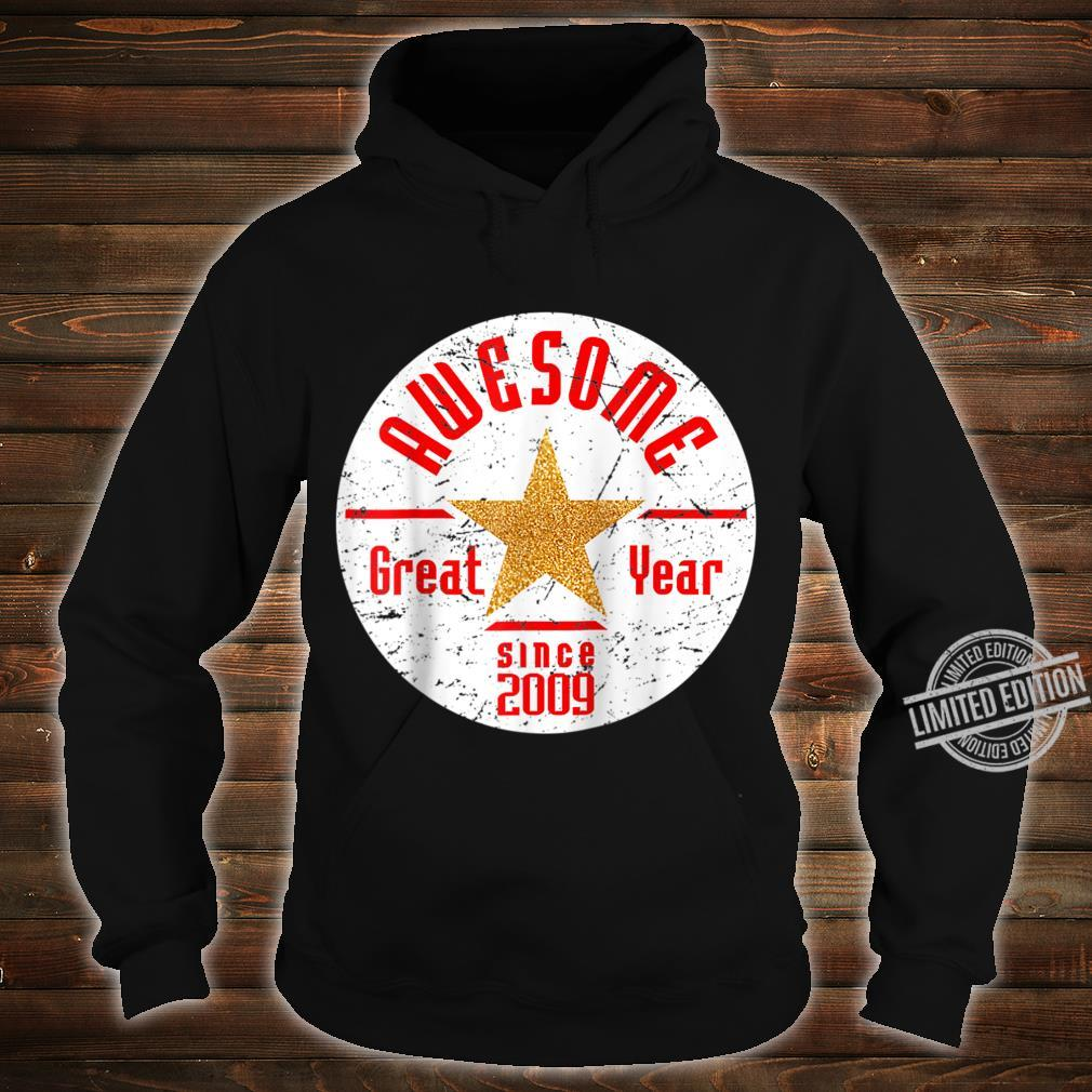 Born In 2009 11th Birthday Awesome Since 2009 Baseball Shirt hoodie