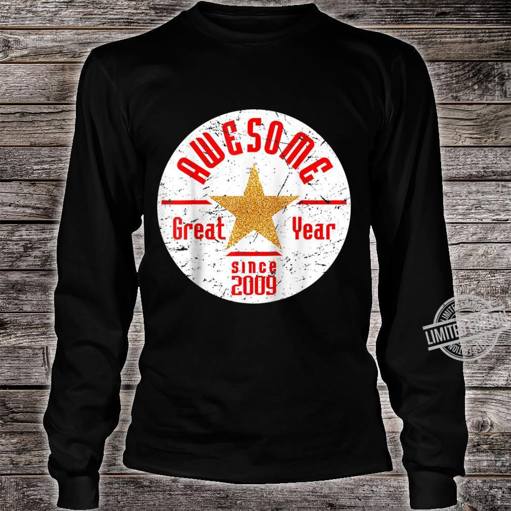 Born In 2009 11th Birthday Awesome Since 2009 Baseball Shirt long sleeved