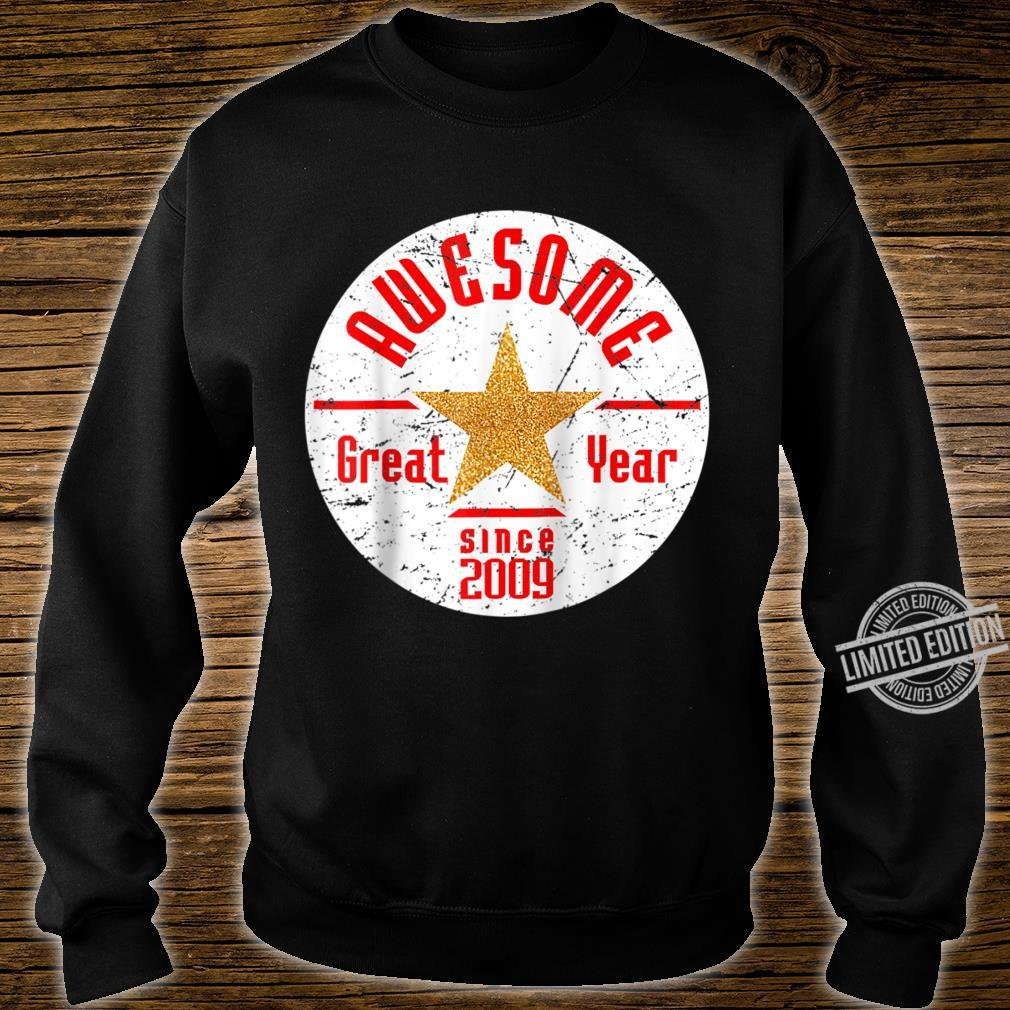 Born In 2009 11th Birthday Awesome Since 2009 Baseball Shirt sweater
