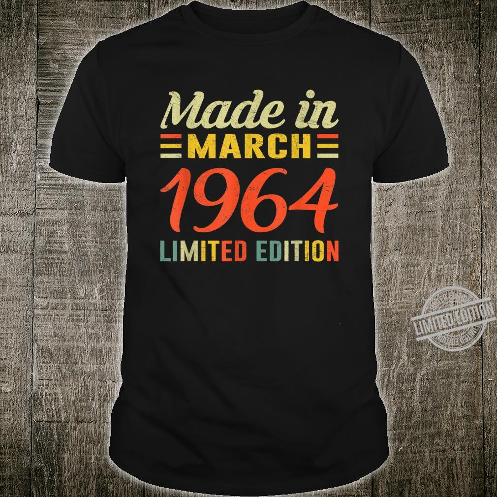 Born March 1964 Birthday Made in 1964 56 Years Old Shirt