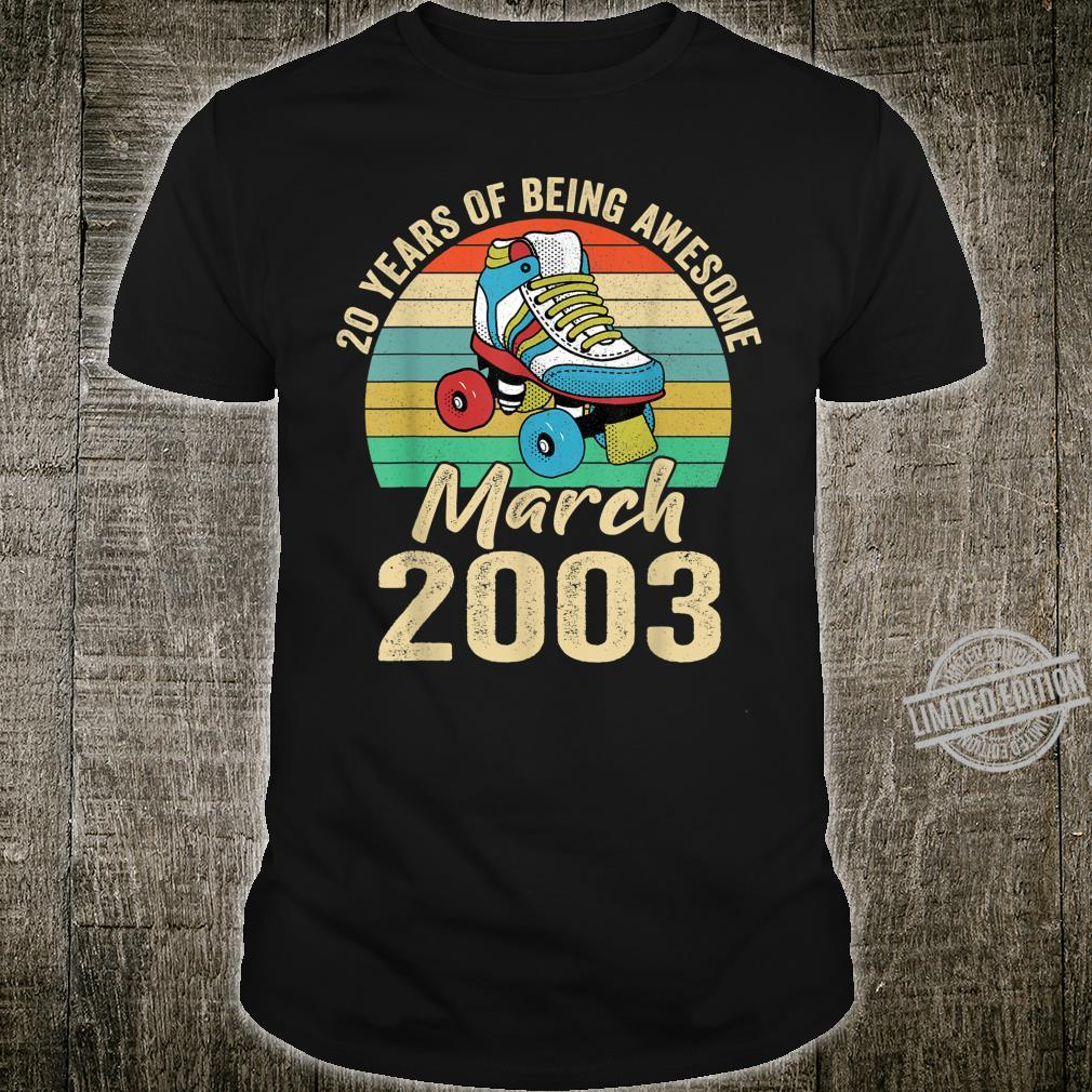 Born March 2003 Vintage 17 Years Old Birthday Shirt