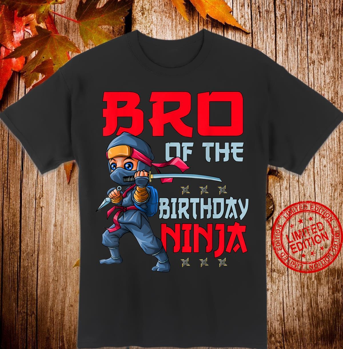 Bruder des Geburtstags Ninja Bday Boy Family Matching Shirt