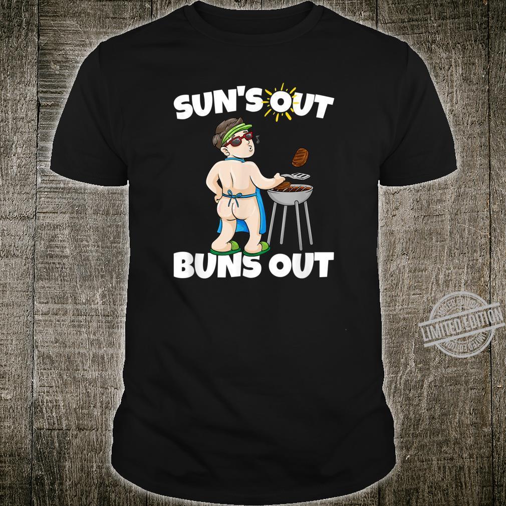 Bumps Out Summer Suns Out BBQ Grilling Spring Sun Butt Shirt