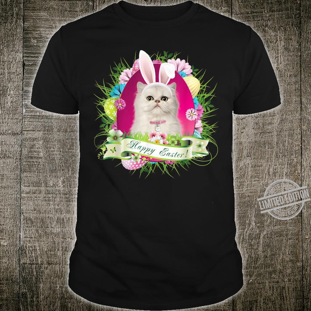 Bunny Persian Cat Happy Easter Day Egg Hunt Lovely Shirt