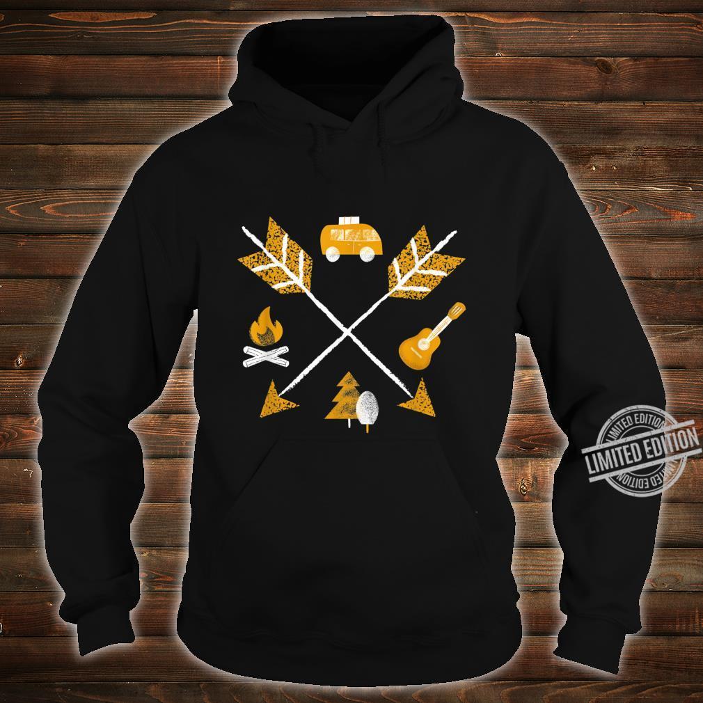 Camper Vanlife Camping Arrows Short Sleeve Shirt hoodie