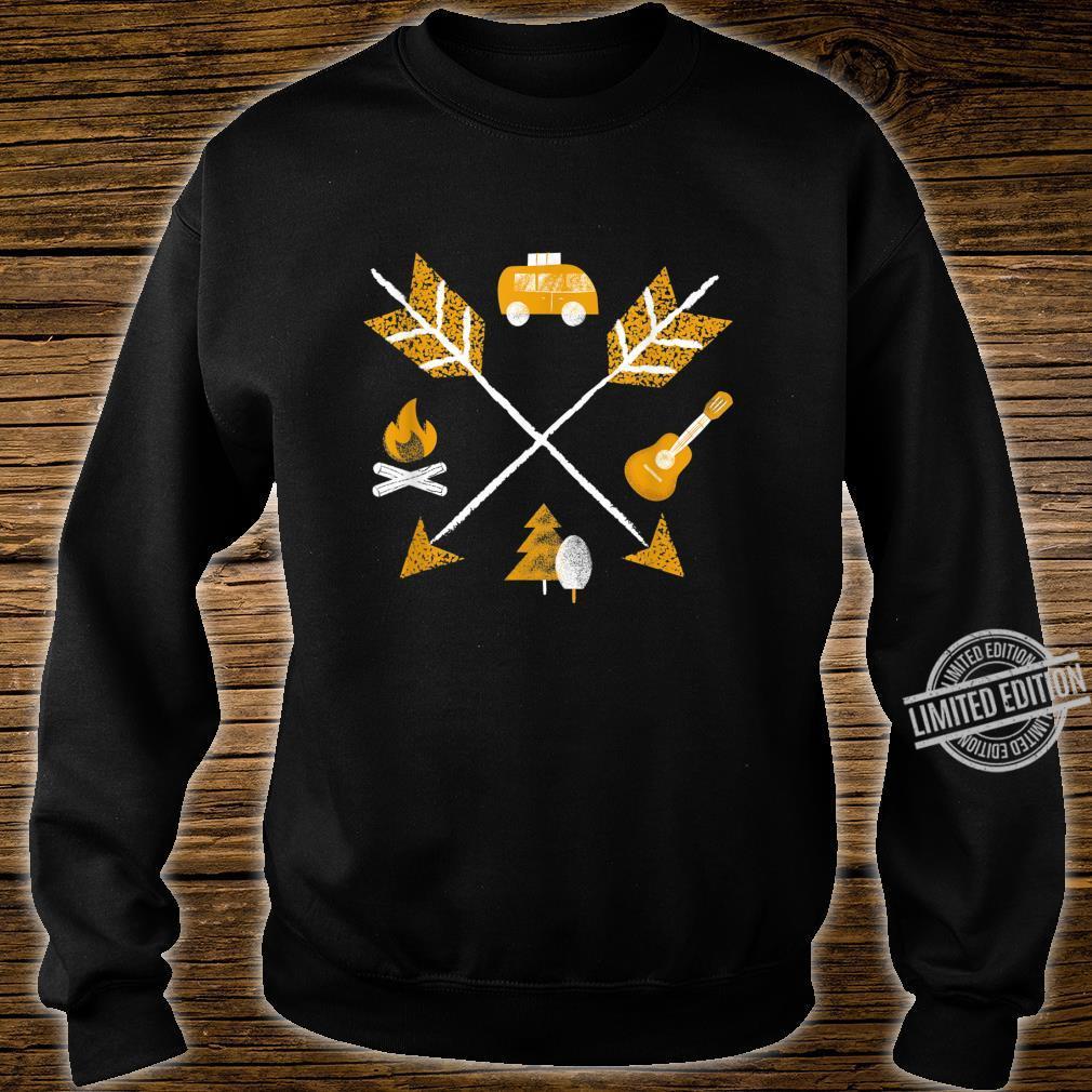 Camper Vanlife Camping Arrows Short Sleeve Shirt sweater