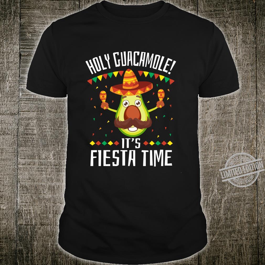 Cinco de Mayo Holy Guacamole It's Mexican Fiesta Time Shirt