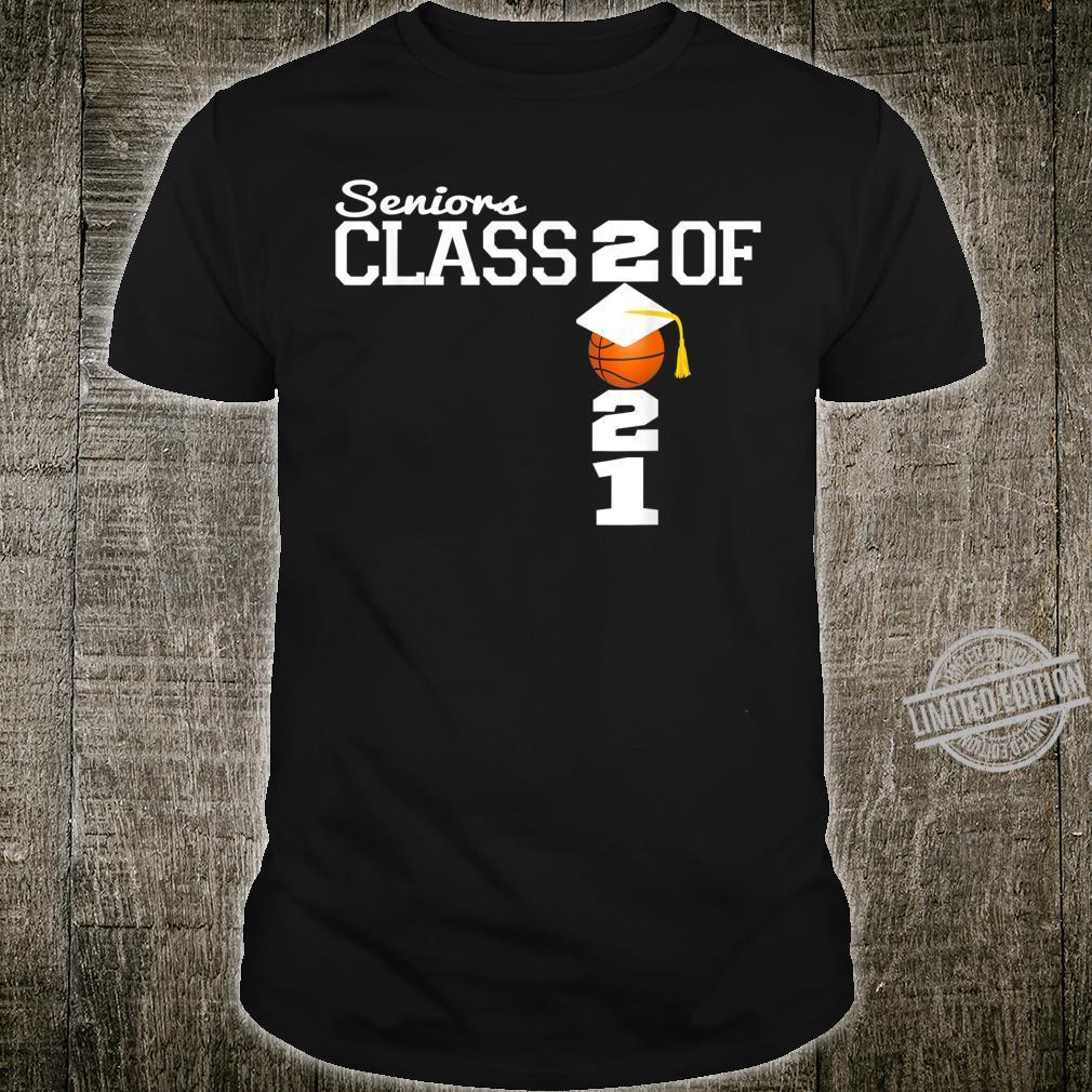 Class of 2021 Basketball Senior Graduation Shirt