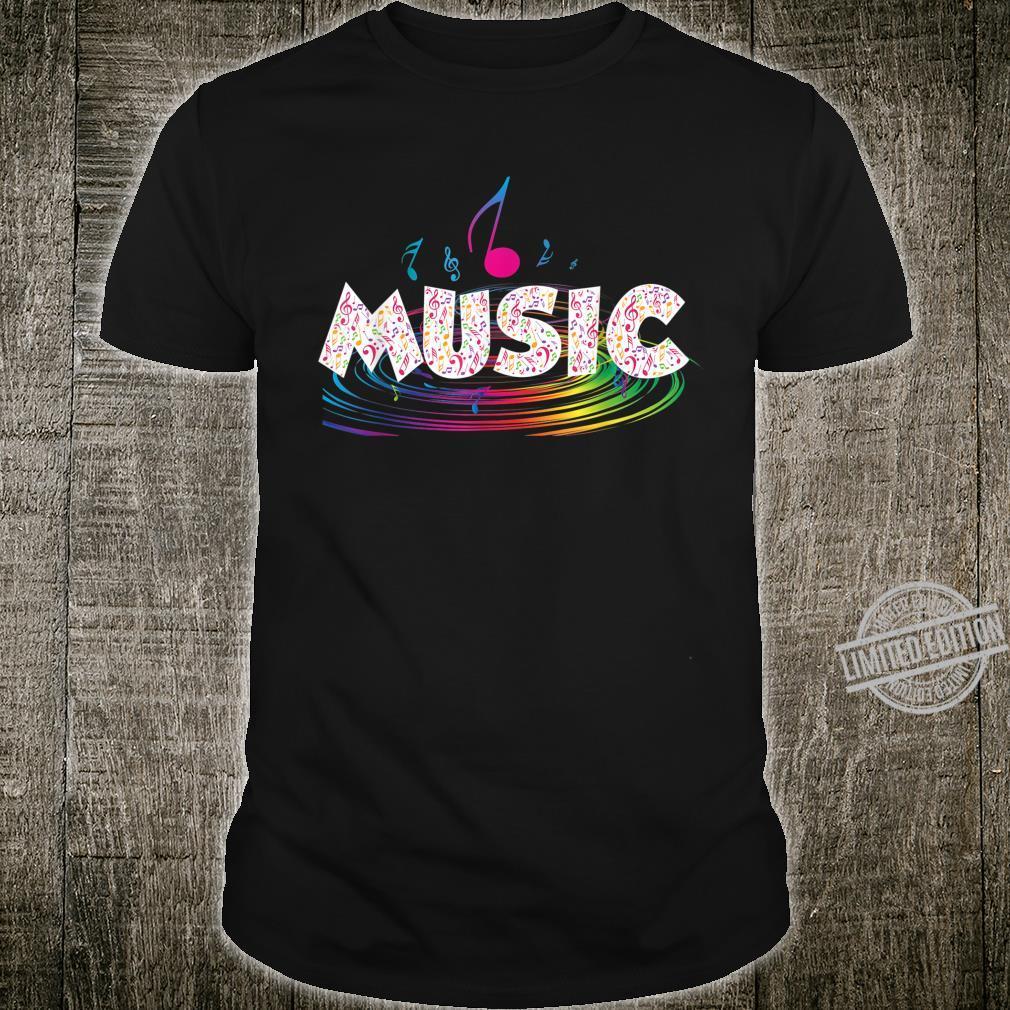 Colorful Music Treble Clef Music Shirt