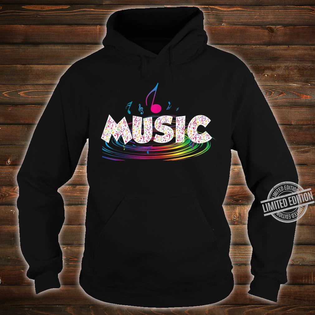 Colorful Music Treble Clef Music Shirt hoodie