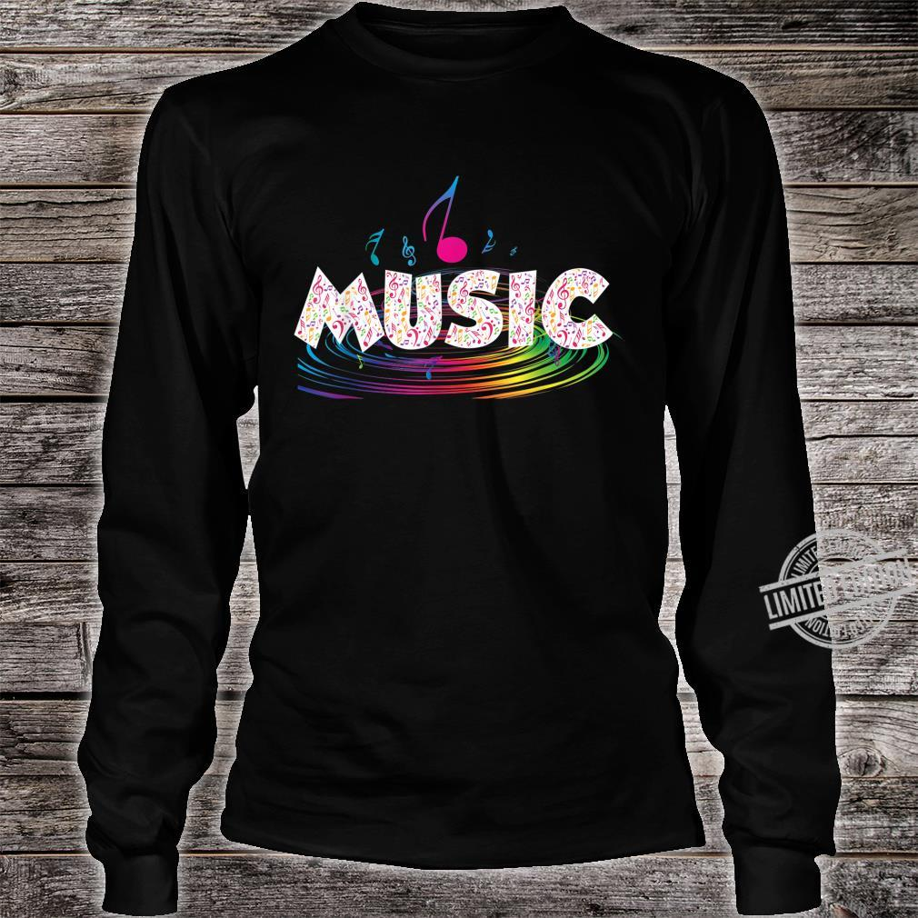 Colorful Music Treble Clef Music Shirt long sleeved