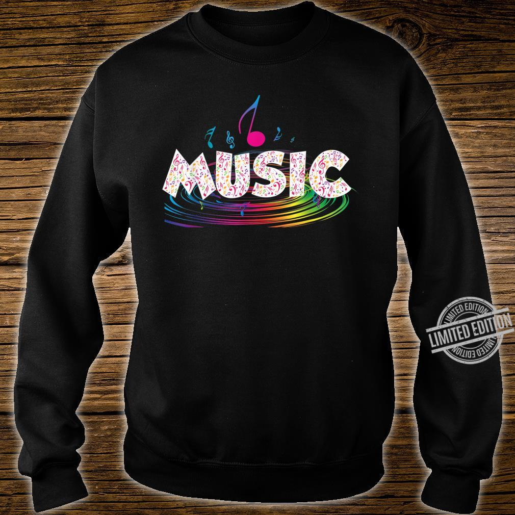 Colorful Music Treble Clef Music Shirt sweater