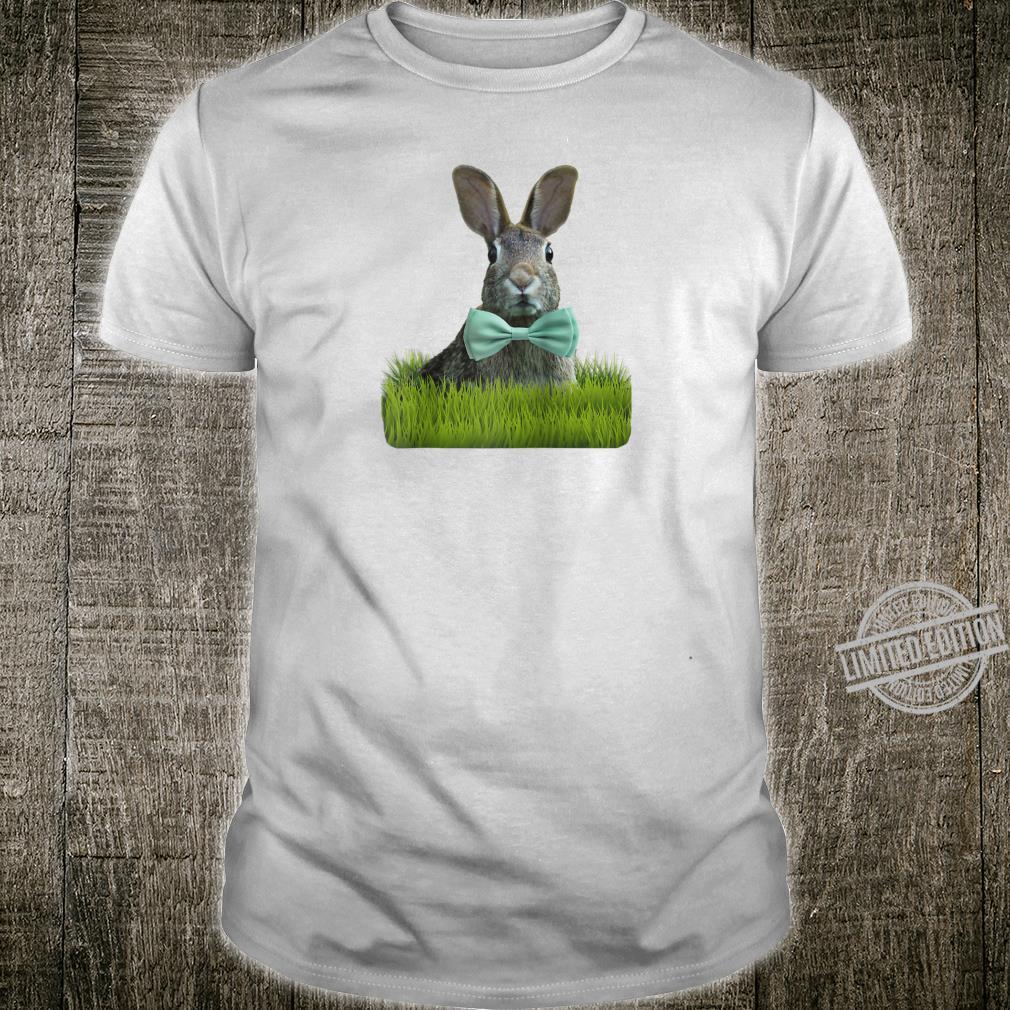 Cute Animals Easter Sunday Bunny Rabbit Bow Tie Shirt