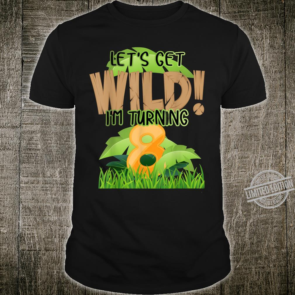 Cute Jungle Safari 8th Birthday 8 Years Old Boys Girls Shirt
