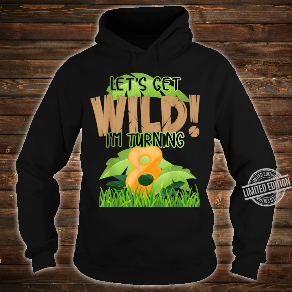Cute Jungle Safari 8th Birthday 8 Years Old Boys Girls Shirt hoodie
