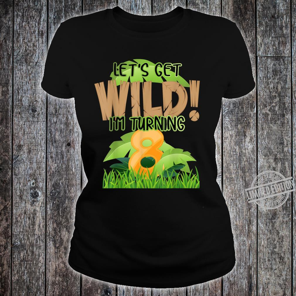 Cute Jungle Safari 8th Birthday 8 Years Old Boys Girls Shirt ladies tee