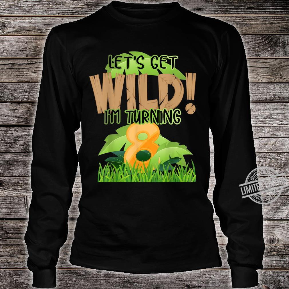 Cute Jungle Safari 8th Birthday 8 Years Old Boys Girls Shirt long sleeved