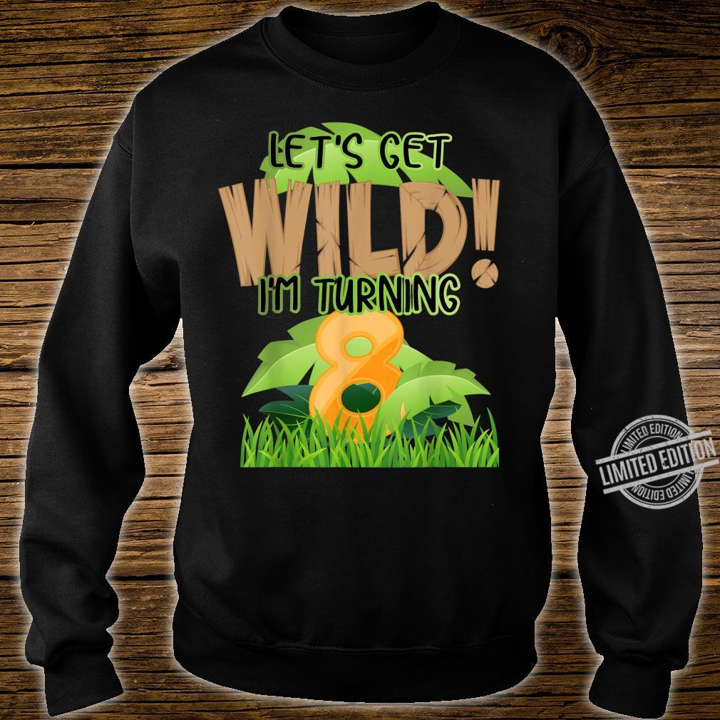 Cute Jungle Safari 8th Birthday 8 Years Old Boys Girls Shirt sweater