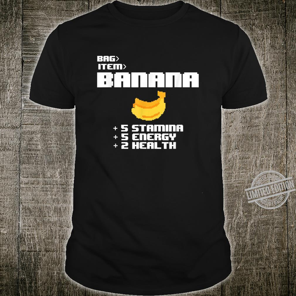Cute Kawaii 8bit Pixel Banana Fruit Video Gamer Shirt